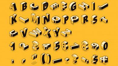 isometric letters halftone font illustration thin line cartoon 33099 762 برای چه کارهایی میتوان از Wordnet استفاده کرد؟